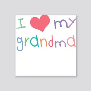 Kids I Love My Grandma Square Sticker