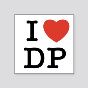 I Heart DP Square Sticker