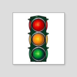 Stop Light Square Sticker