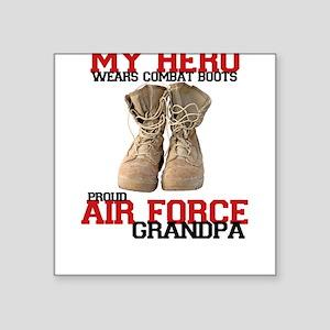 Combat boots: USAF Grandpa Square Sticker