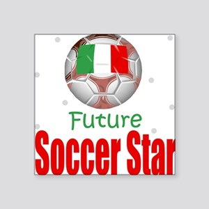 Future Soccer Star Italy Baby Square Sticker