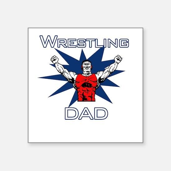 Wrestling Dad Square Sticker