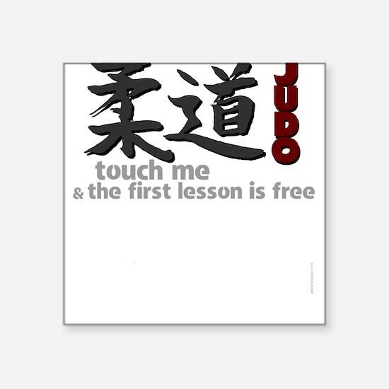 Funny Judo Square Sticker