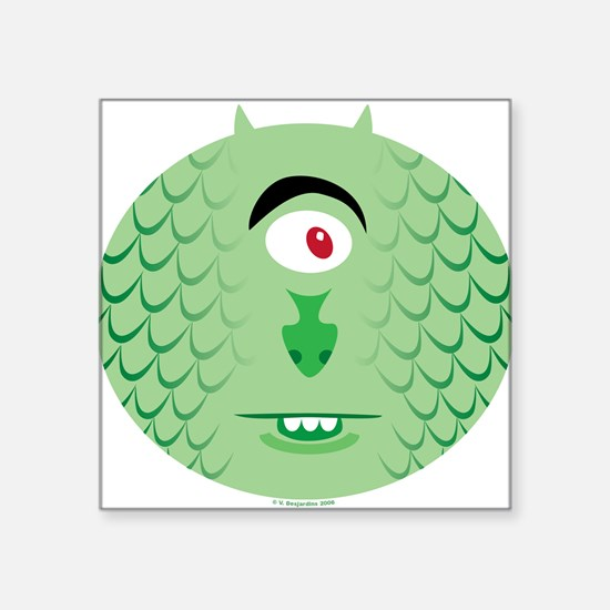 One-eyed Sea Monster Square Sticker