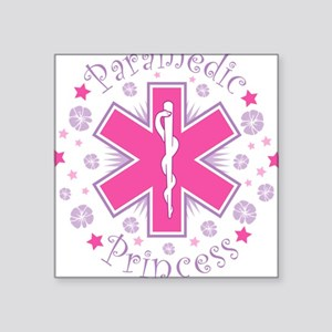 Paramedic Princess Square Sticker