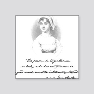 Jane Austen Attitude Square Sticker