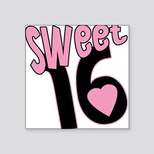 Sweet 16 Funky Pink Square Sticker