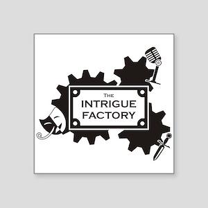 "Intrigue Factory Logo Square Sticker 3"" x 3&q"