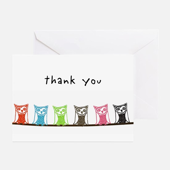 Thank you owls Greeting Cards (Pk of 20)