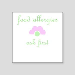 Food Allergies Square Sticker
