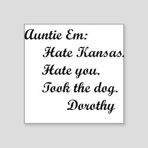 Wizard of Oz Auntie Em Square Sticker