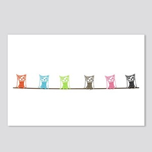 6 owls Postcards (Package of 8)