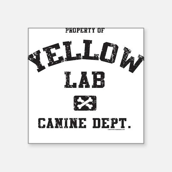 Canine Dept. - Yellow Lab Square Sticker