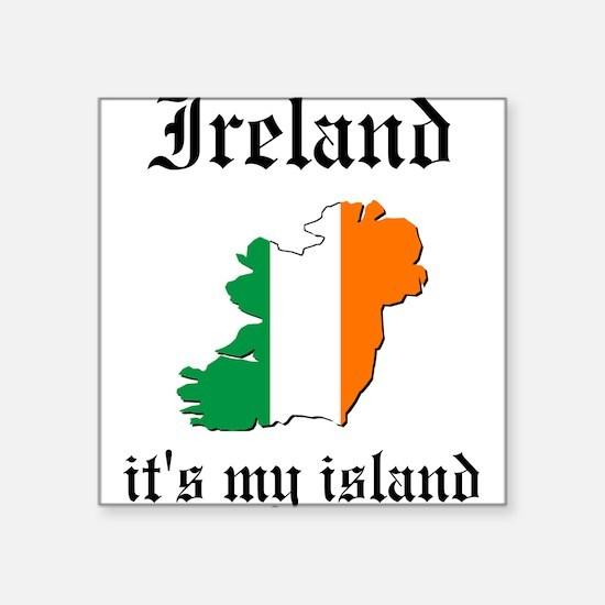 Ireland Island Square Sticker