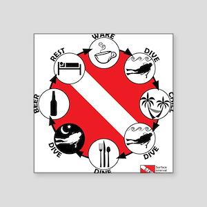 Circle of Scuba Square Sticker