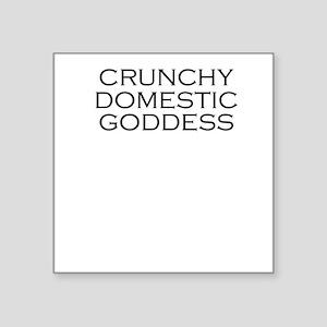 Crunchy Domestic Goddess Square Sticker