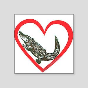 Alligator Heart Square Sticker