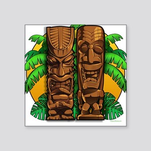 Tiki Idols Square Sticker