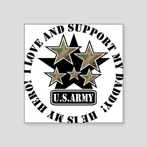 Daddy Kids Army Love Support Creeper Square Sticke