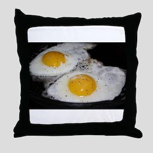 Fried Eggs eggs over easy Throw Pillow