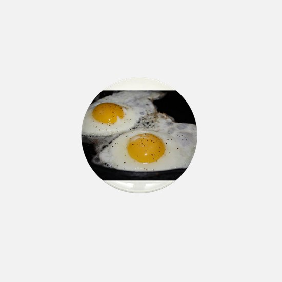 Fried Eggs eggs over easy Mini Button