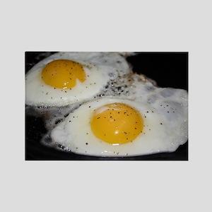 Fried Eggs eggs over easy Rectangle Magnet