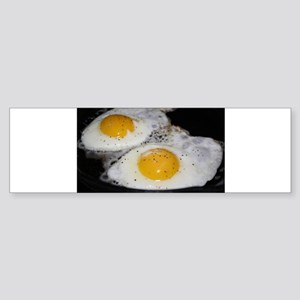 Fried Eggs eggs over easy Sticker (Bumper)