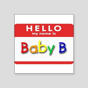 Baby B Creeper Square Sticker