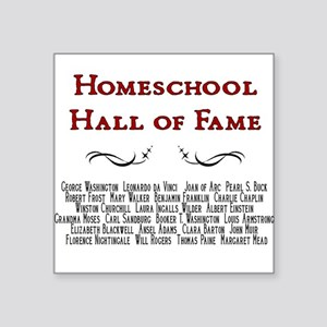 Hall of Fame Square Sticker