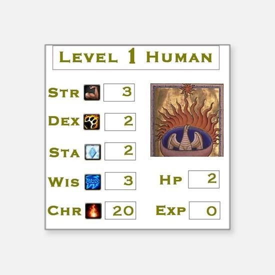 Level 1 Human Square Sticker