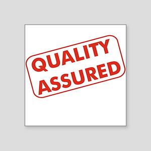 Quality Assured Square Sticker