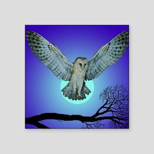 Owl in Flight NA Square Sticker