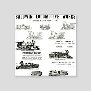 The Baldwin Locomotive Works Square Sticker