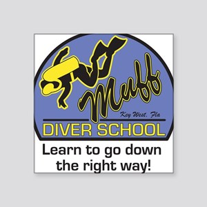 Muff Diver School Square Sticker
