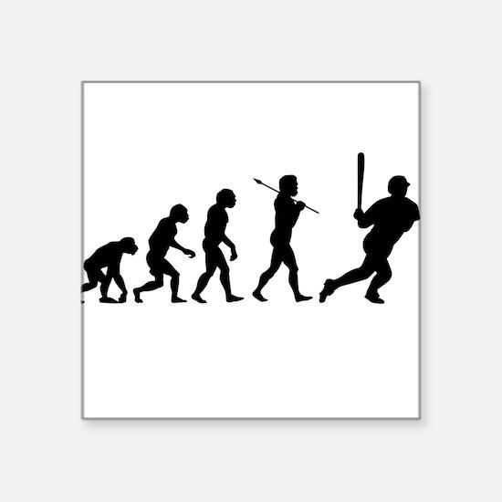 Evolve - Baseball Square Sticker