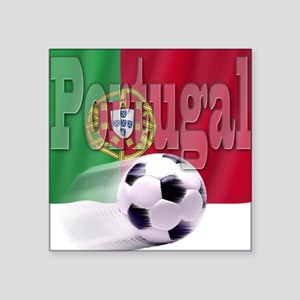 Soccer Flag Portugal Square Sticker