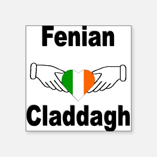 Fenian Claddagh Square Sticker