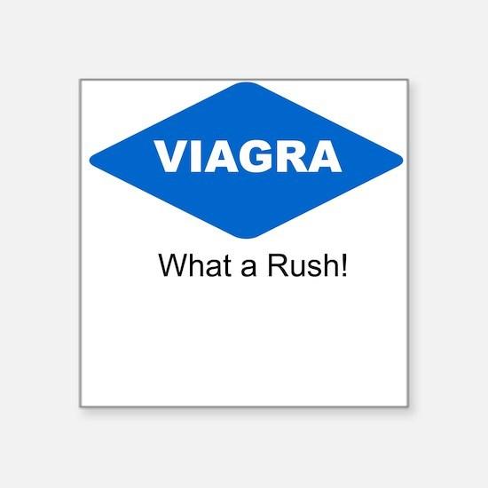 What a Rush! Square Sticker