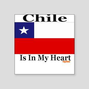 Chile - Heart Square Sticker