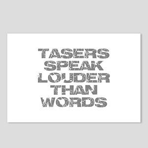 Tasers Speak Louder Than Words Postcards (Package