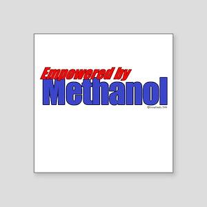 Empowered by Methanol Square Sticker