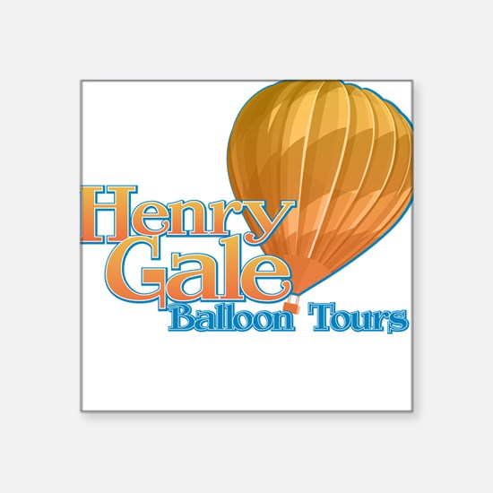 Henry Gale Balloon Tours Square Sticker
