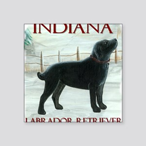 Indiana Labrador Square Sticker