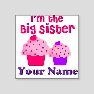 Big Sister Cupcake Custom Square Sticker