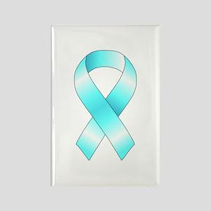 Light Blue Ribbon Rectangle Magnet