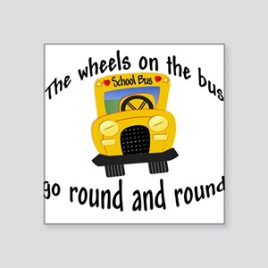 Wheels on the Bus Baby/Toddler Square Sticker
