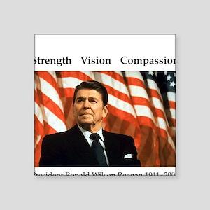 President Reagan Memorial Square Sticker
