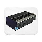 Console Piano Sherpa Fleece Throw Blanket
