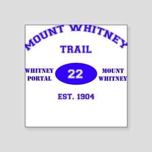 Mount Whitney Trail Square Sticker