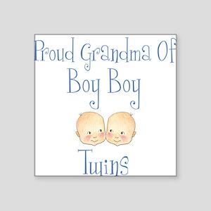 Proud Grandma of Boy Twins Square Sticker